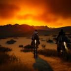 Feuerhimmel (Sonnenuntergang in der Wüste)