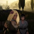 Sonnenaufgang in Heidel... zwei Damen in Gefahr.