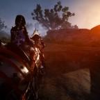 In den Sonnenuntergang reiten ..