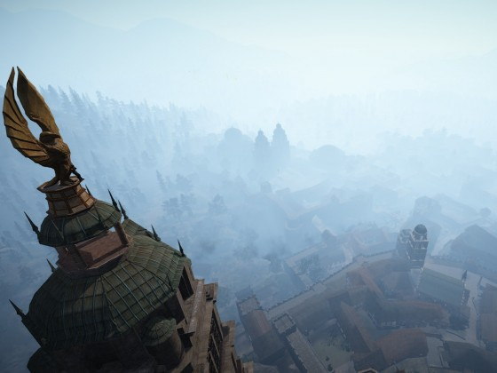 Blick Über Calpheon vom Turm der Walküren Akademie