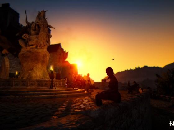 Sonnenuntergang in Heidel