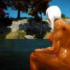 Ein kühles Bad an einem sommerlichen Tag