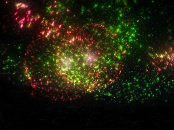 Feuerwerk in Heidel