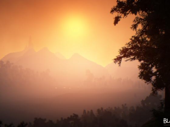 Sonnenuntergang in Grana